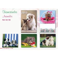 Calendario Trimestral Animales Se125 2015