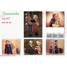Calendario Trimestral Infantil Se127 2015